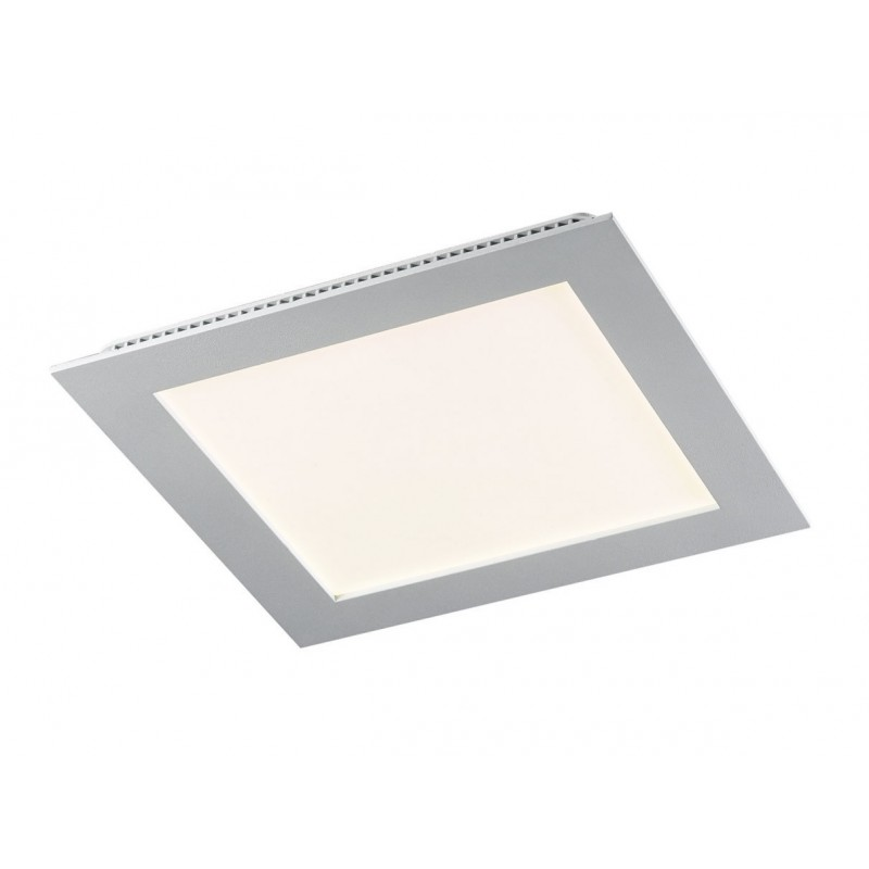 Downlight LED 9W 6000K cuadrado empotrar blanco