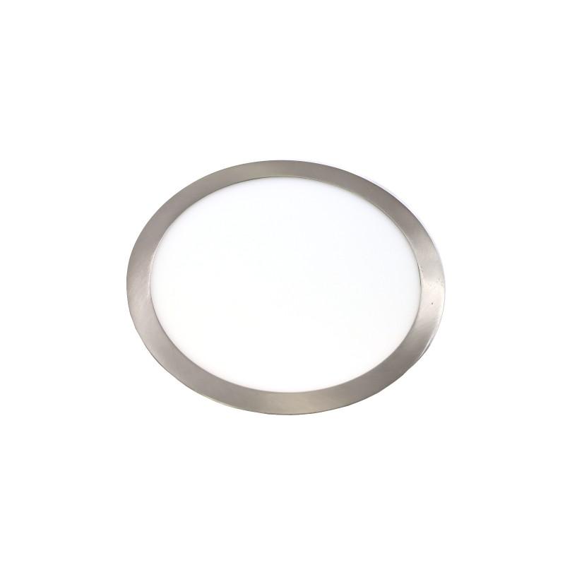 Downlight LED 24W 4000K redondo empotrar acero
