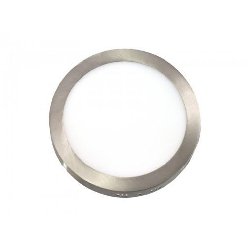 Downlight LED 12W 6000K redondo superficie acero