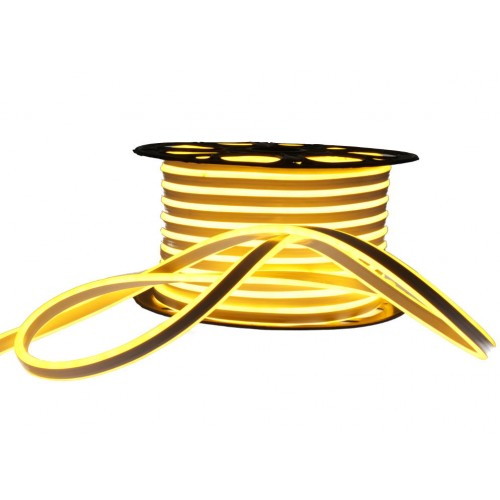 Neon LED flexible doble cara 120LED/m 7W/m Blanco 2200K amarillo exterior 50m