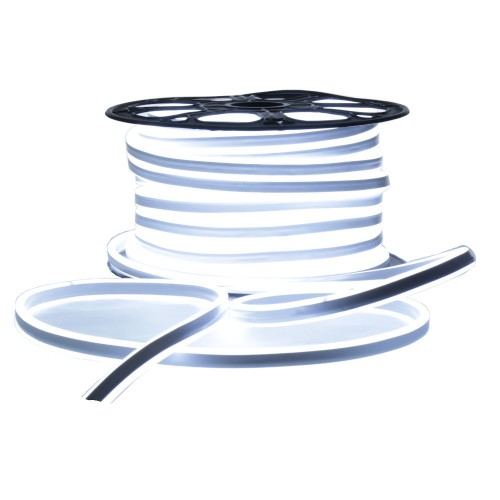 Neon LED flexible doble cara 120LED/m 7W/m Blanco 6000K exterior 50m