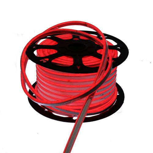 Neon LED flexible doble cara 120LED/m 7W/m ROJO exterior 50m