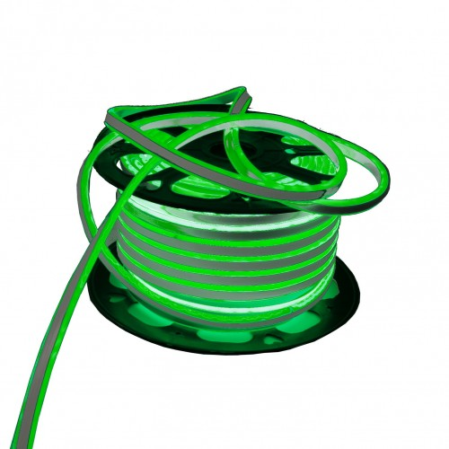 Neon LED flexible doble cara 120LED/m 7W/m VERDE exterior 50m