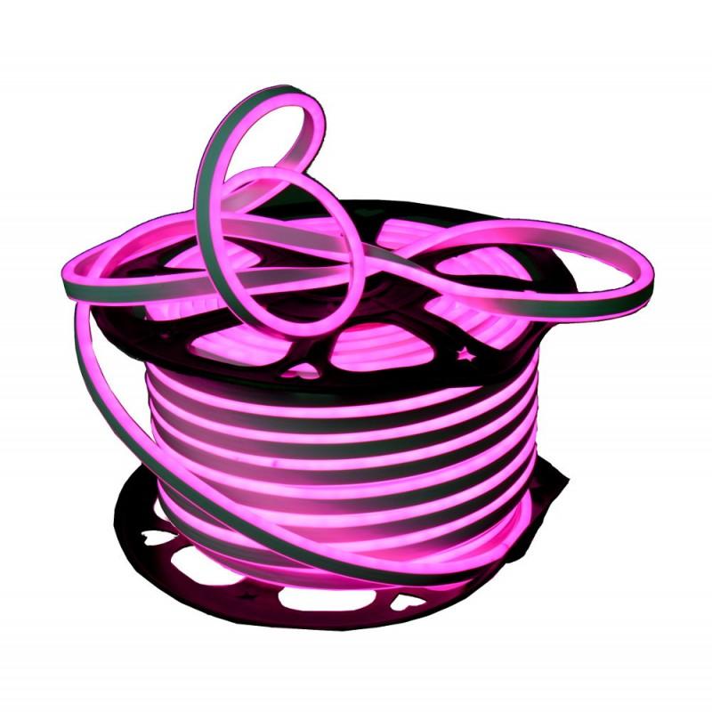 Neon LED flexible doble cara 120LED/m 7W/m ROSA exterior 50m