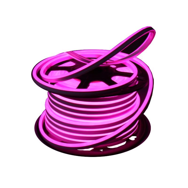 Neon LED flexible simple 120LED/m 7W/m Rosa exterior 50m