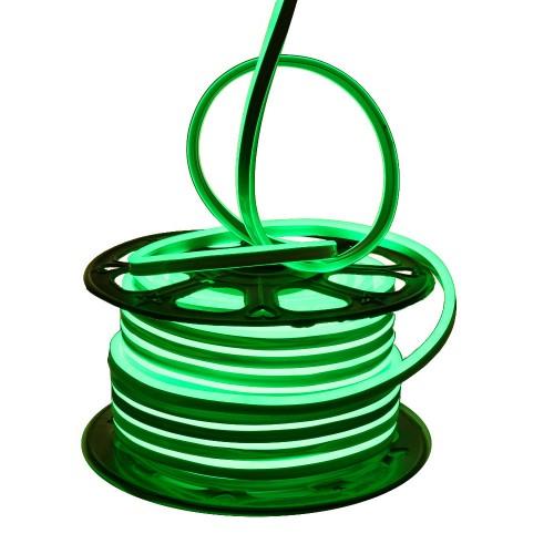 Neon LED flexible simple 120LED/m 7W/m Verde exterior 50m