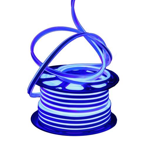 Neon LED flexible simple 120LED/m 7W/m Azul exterior 50m