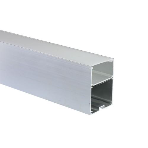 Perfil de aluminio lampara colgante 50*70mm con tapa