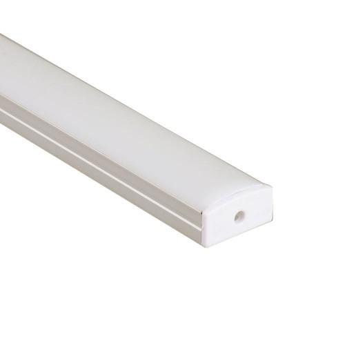 Perfil de aluminio superficie 23,3*9,7mm con tapa