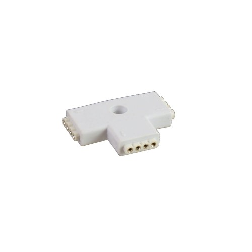 Conector T 90º tira led rgb 10mm 4pin