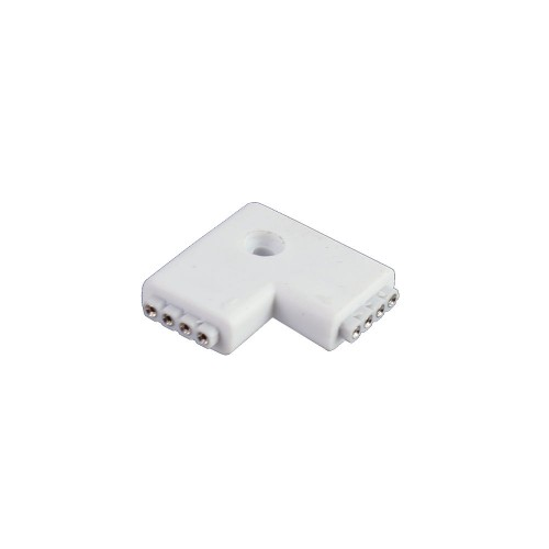 Conector L 90º tira led rgb 10mm 4pin