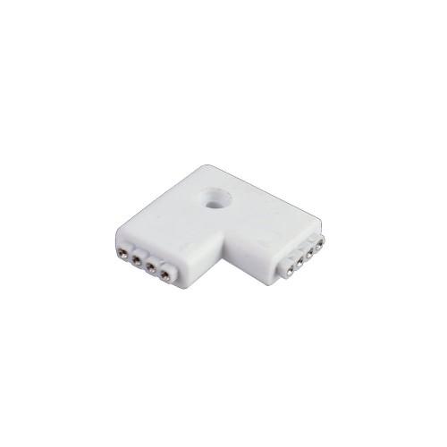 Conector L 90º tira led rgb 10mm 4pin