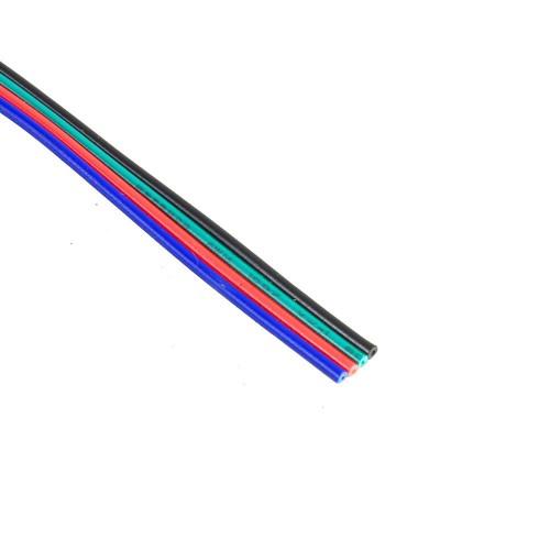 Cable RGB 4 hilos RGB y alimentracion  Bobina 25 metros