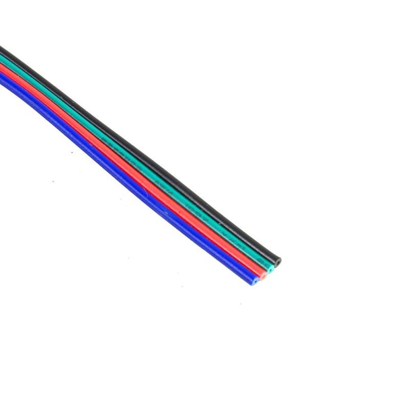 Cable RGB 4 hilos R-G-B-W Bobina 25 metros