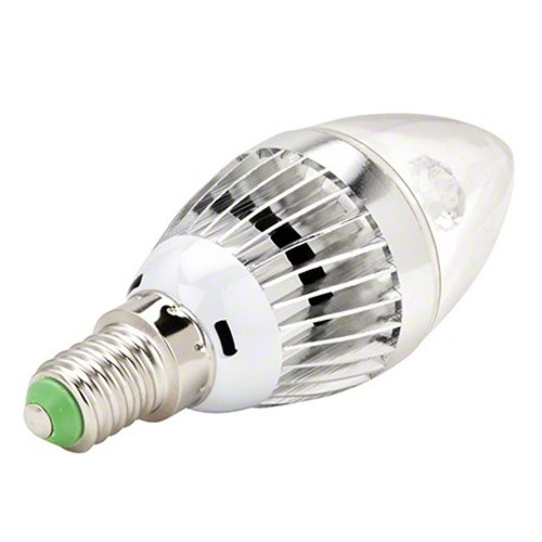 BOMBILLA LED E14 3W Blanco frio 6000K VELA