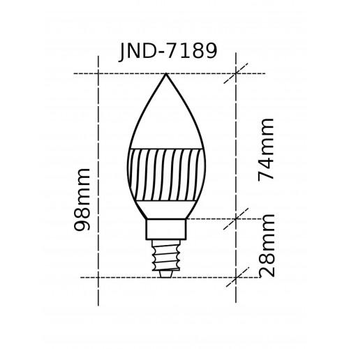 Bombilla LED vela E14 3W 4000ºK blanco natural