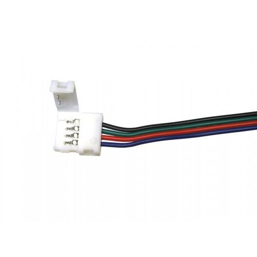 Conector RGB 10mm unión 4 contactos cable 15cm