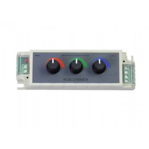 Regulador dimmer tira led RGB 3 canales 12V-24VDC 9A