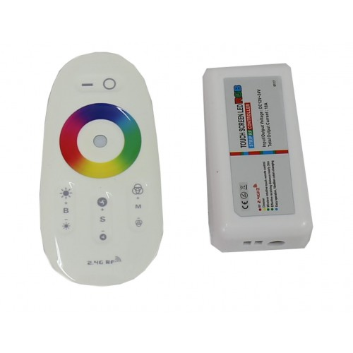 Sistema de control RGB táctil inalámbrico 216W 12V/24V