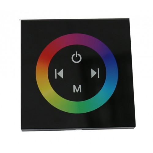Control RGB empotrable táctil para RGB 12 y 24V 144W