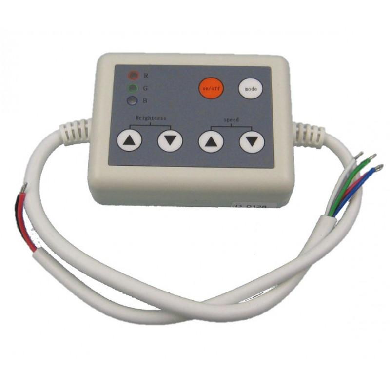 Receptor y mando de control para tira de led RGB.