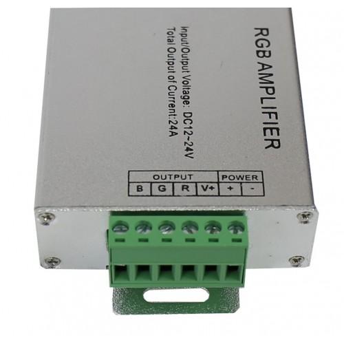 Amplificador repetidor para tira led RGB 24A 288W