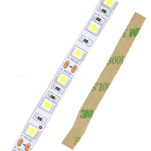 Tira led 12V 6000ºK 60 leds/metro interior IP20 SMD5050 Bobina 5 mts