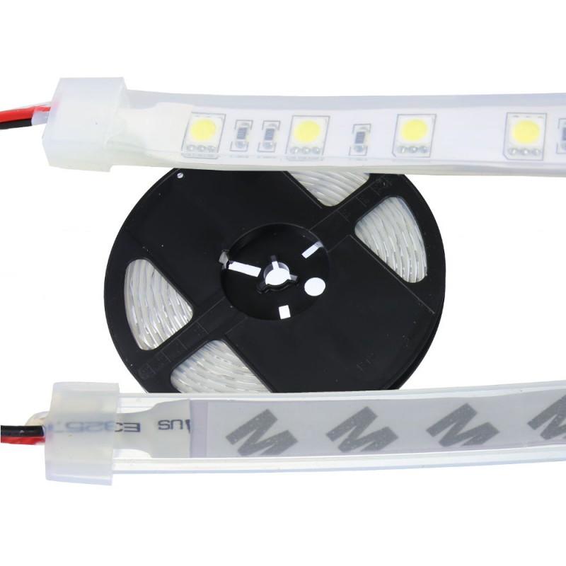 Tira led 24V 6000ºK IP67 60leds SMD5050 metro Bobina 5 mts