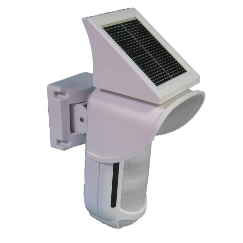 Detector PIR exterior doble PIR y MW con placa solar