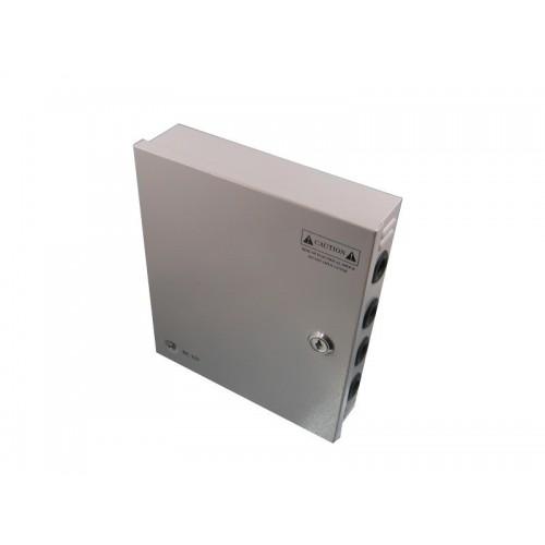 Transformador a 12V de 10 amperios, 18 salidas en armario