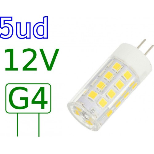 Bombilla LED G4 5W blanco natural 4000ºK Blister 5 uds
