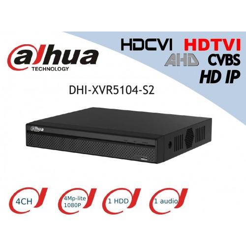 XVR 5 en 1 DAHUA DHI-XVR5104-S2 4 canales