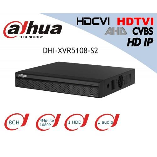 XVR 5 en 1 DAHUA DHI-XVR5108-S2 8 canales