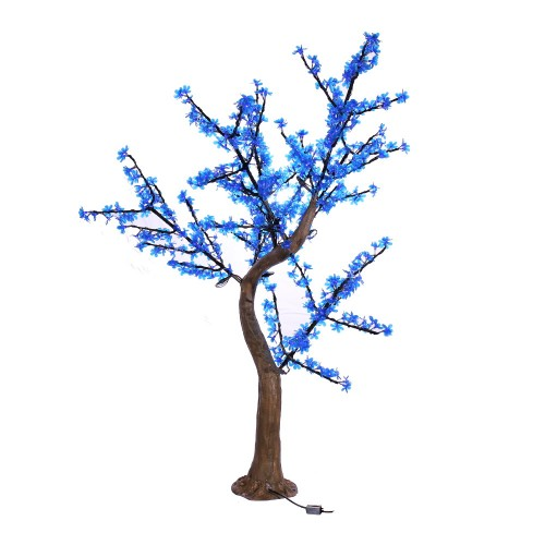 Arbol led cerezo 1,8m 35W 672 led azul exterior