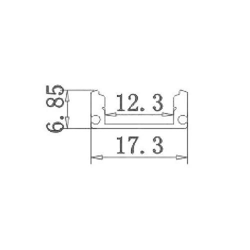 4x1 metro Perfil aluminio tira led superficie con tapa traslúcida 12,3x6,08mm - Jandei