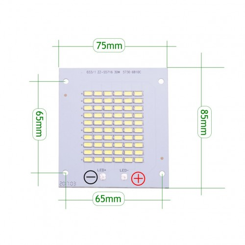 Placa LED 30W 60 led SMD5730 6000K recambio proyecto