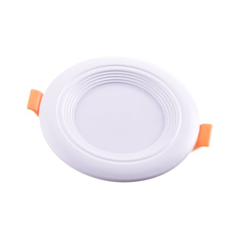 Downlight LED oceano redondo empotrar 7W 6000K marco blanco PF0,95