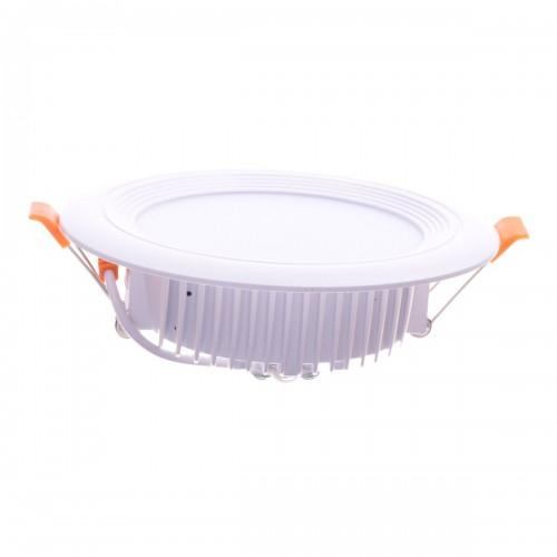 Downlight LED oceano redondo empotrar 12W 3000K marco blanco PF0,95
