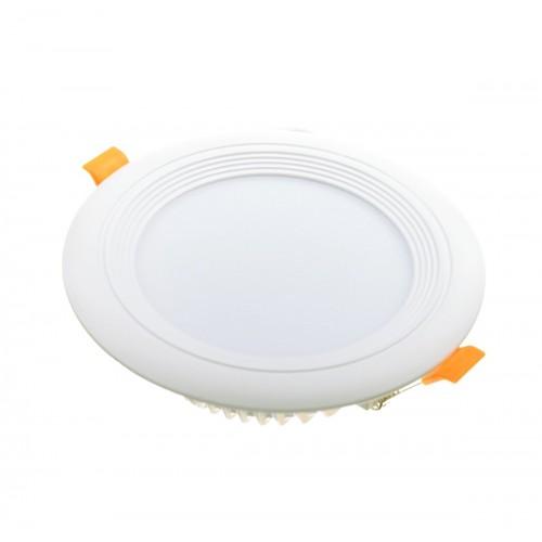 Downlight LED oceano redondo empotrar 12W 6000K marco blanco PF0,95