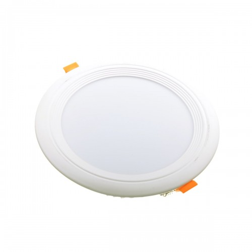 Downlight LED oceano redondo empotrar 18W 6000K marco blanco PF0,95