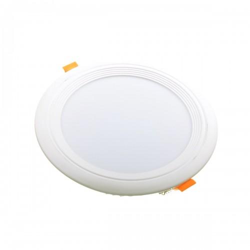 Downlight LED oceano redondo empotrar 18W 3000K marco blanco PF0,95
