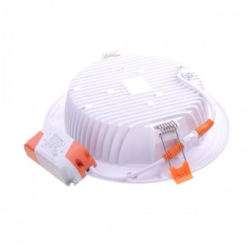 Downlight LED oceano redondo empotrar 18W 4200K marco blanco PF0,95