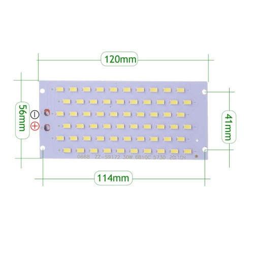 Placa LED 30W 208 led SMD5730 6000K recambio proyector