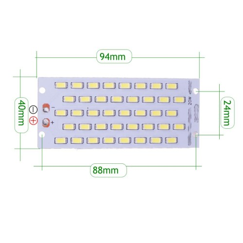 Placa LED 20W 40 led SMD5730 6000K recambio proyector