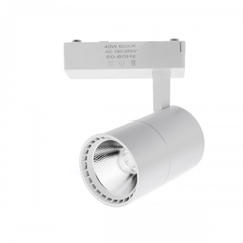 Foco led carril 40W luz 6000K color blanco monofasico