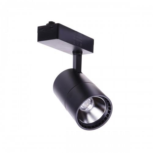 Foco led carril 40W luz 6000K color negro monofasico