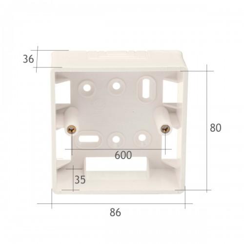 Caja superficie para mecanismos 86*86 mm PVC beig clara