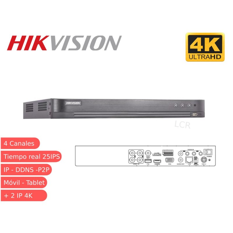 DVR 5 en 1 4 canales 4K 8MP DS-7204HTHI-K1