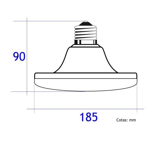 Bombilla led E27 UFO 36W luz blanca fria 6000K