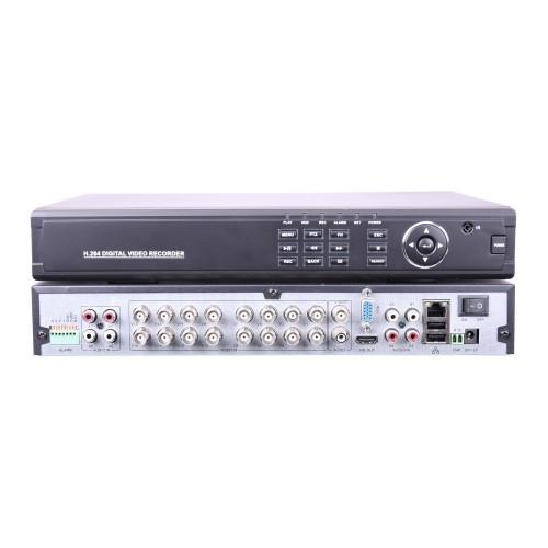 Videograbador XVR 16 camaras 1080P 5 en 1 con entrada audio y alarmas